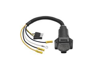 20321 Tow Ready 4-Flat to 7-Way Flat Pin Connector Adapter Plastic