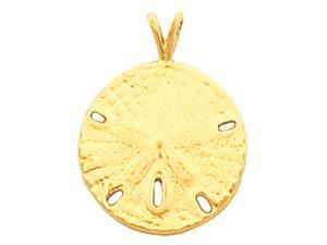 14K Yellow Gold Sand Dollar Pendant  3