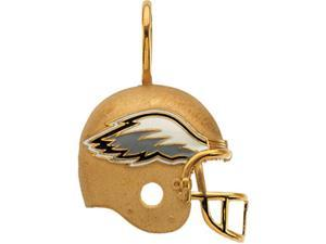 14K Yellow Gold Philadelphia Eagles Helmet Pendant W/Enamel  2.7