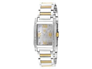 ESQ by Movado Ladies Square Casing Two Tone Stainless Steel Band Watch 7101258