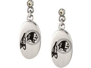 Stainless Steel 27.60mmx10.00mm Washington Redskins Logo Dangle Earrings