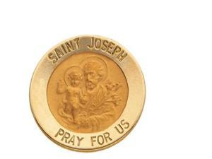 CleverSilver's 14K Yellow Gold St. Joseph Lapel Pin5. 0 0 Mm