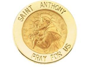 CleverSilver's 14K Yellow Gold St. Anthony Lapel Pin5. 0 0 Mm