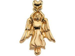 CleverSilver's 14K Yellow Gold Angel Lapel Pin 2 2. 0 0X14. 5 0 Mm