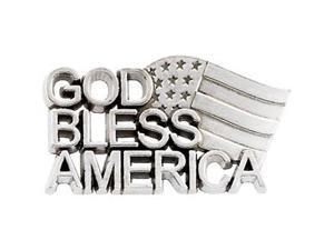 CleverSilver's 14K Yellow Gold God Bless America Lapel Pin1. 2 5X 2 0. 2 5 Mm