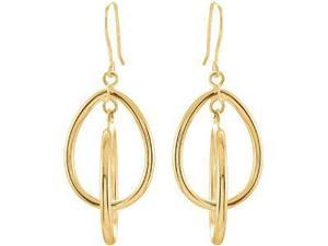 14Ky Gold Clad Sterling Silver Dangle Earring 14Kycladster Pair 31.00X17.25 mm