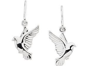 Remembrance Earrings 14K White Right 15.25X12.25 mm
