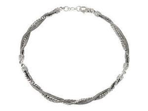 CleverEve's Sterling Silversterling Silver Multi Strand Fashion Chain 17.00 Inch