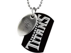 Stainless Steeltennessee Titans Team Name & Logo Double Dog Tag W/Chain 45.00mm
