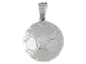 CleverEve's Sterling Silver Pendant Soccer Themed
