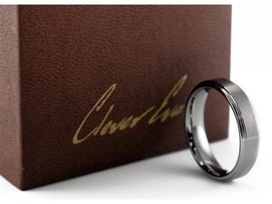 CleverEve Tungsten Nation 6.0mm Tungsten Carbide Ring Engagement Classic Brushed & Polished Tungsten Wedding Band  (10.5)