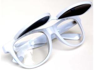Classic Wayfarer Flip Sunglasses Glasses- White