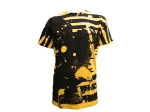 Konflic Men's Freedom Eagle Vintage MMA T Shirt, Yellow X-Large