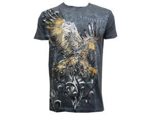 Konflic NWT Men's Striking Eagle Graphic MMA Muscle T-shirt, Charcoal, M