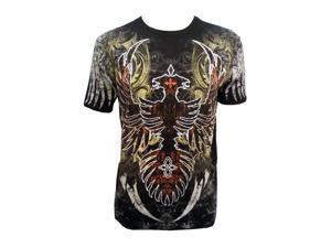 Konflic Ruined Ancient Phoenix  Spirit Designer  Muscle T-shirt Black 2XL