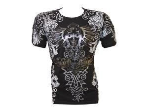 Konflic NWT Men's All-Over Tribal Graphic MMA Muscle T-shirt, Black, Small