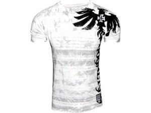 Konflic NWT Men's Royalty Graphic Designer MMA Muscle T-shirt, White, 2XL