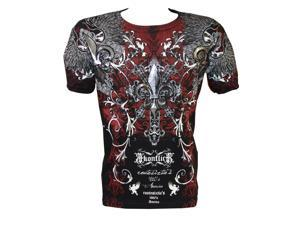 Konflic NWT Men's Rock Star Graphic MMA Muscle T-shirt, Black, Large