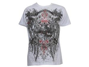 Konflic Men's Griffins The Majesty MMA Muscle T-Shirt - White - 2X-Large