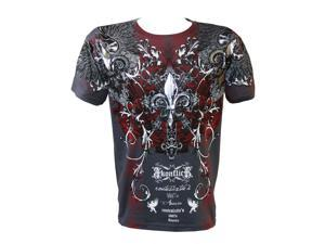 Konflic NWT Men's Rock Star Graphic MMA Muscle T-shirt, Charcoal, Small
