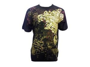 Konflic Golden Lion  World Atlas Designer  Muscle  T-shirt Black 2XL