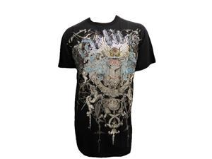 Stone Konflic Fidelitas Crown Emblem Muscle T-Shirt - Black - Large