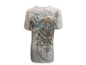 Stone Konflic Fidelitas Crown Emblem Muscle T-Shirt - White - X-Large