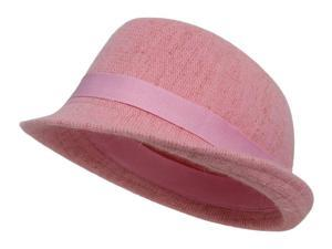 Womens Polyester/Wool Fedora Cap - Pink - Small/Medium