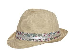 Soft Petal Fedora Hat- Cream
