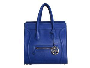 "Womens Designer ""Poitiers"" Tote Structured Shoulder Handbag - Blue"