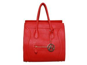 "Womens Designer ""Poitiers"" Tote Structured Shoulder Handbag - Red"