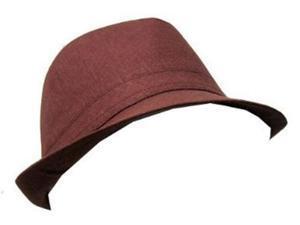 New Plain Fedora Fashion Hat- Brown