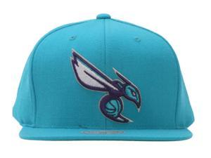 Charlotte Hornets Mitchell & Ness Turquoise Adjustable Cap