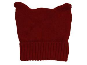 TopHeadwear Cute Adventure Ears Rib Knit Beanie - Maroon