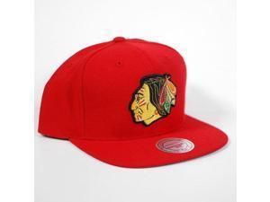 Mitchell & Ness Chicago Blackhawks Basic Vintage Logo Adjustable Hat - Red