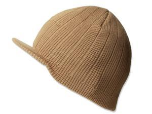 KNITTING CAMPUS CAP W/BILL - Beige