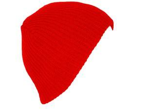 TopHeadwear GI Short Ribbed Watch Waffle Beanie - Red