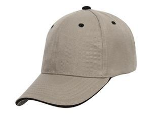 TopHeadwear Plain Adjustable Curved Bill Caps - Khaki