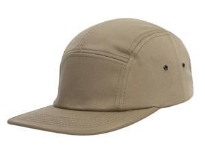 TopHeadwear Plain Cotton Five-Panel Jockey Cap - Khaki