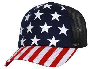 TopHeadwear 5 Panel USA Patriotic Trucker Snapback Hat