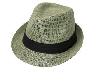 The Hatter Co. Tweed Classic Cuban Style Fedora Fashion Cap Hat, Olive
