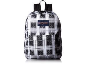 JANSPORT SUPERBREAK BLACK ARCADE PLAID BACKPACK