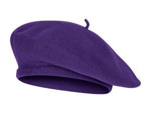 TopHeadwear Wool Blend French Bohemian Beret, Purple