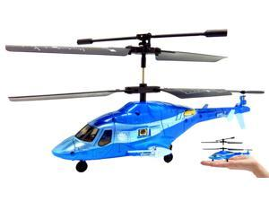 3ch Syma S018 Mini Airwolf RC Helicopter - blue
