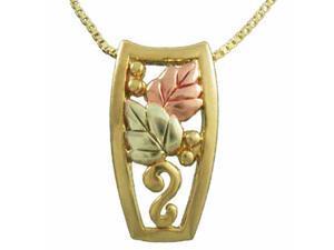 Vermeil (24kt Gold over Silver) Tri Color Leaf Pendant