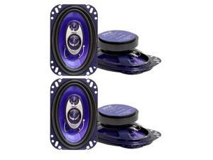 "2 Paif of Pyle PL463BL 4x6"" 240 Watts Three-Way Speakers"