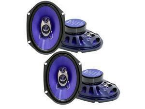 """2 Pair of Pyle PL683BL 6x8"""" 360 Watt 3-Way Car Speakers"""