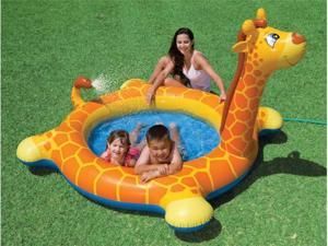 INTEX Inflatable Kids Giraffe Swimming Spray Pool with Water Spout | 57434EP