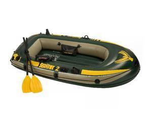 INTEX 68347EP Seahawk 2 Inflatable Lake Boat Set w/Oars & Pump