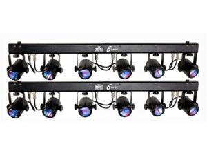 2 CHAUVET 6SPOT LED Dance Effect Stage Light Bar System